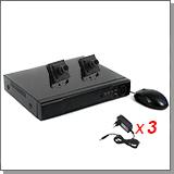 Проводной комплект видеонаблюдения для офиса - 2 FullHD камеры