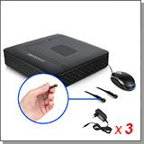 Проводной комплект видеонаблюдения для дома - 2 МИНИ HD AHD камеры